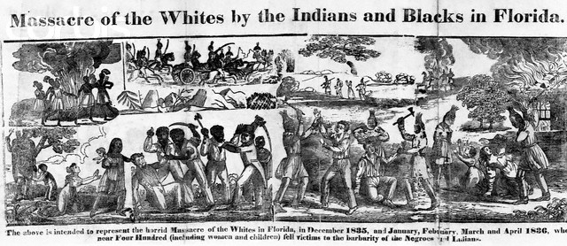 From December 1835 to April 1836, nearly four hundred white  settlers of Florida were massacred by Native and African Americans. ---  Image by © CORBIS